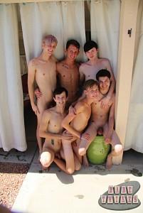 Bareback Twink Boy Orgy?> - 3