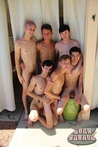 Bareback Twink Boy Orgy?> - 4