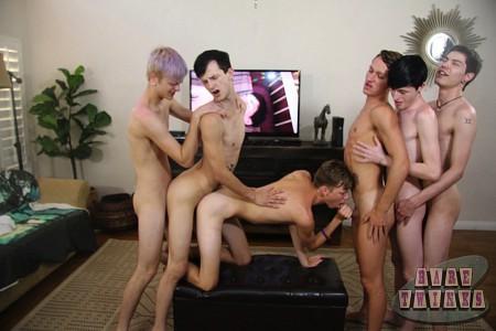 Bareback Twink Boy Orgy?> - 37