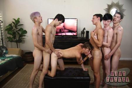 Bareback Twink Boy Orgy?> - 38