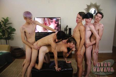 Bareback Twink Boy Orgy?> - 42