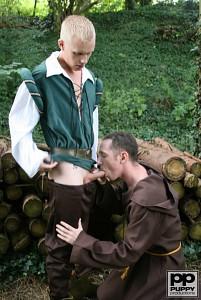 Robin Hood's Band of Barebackers | Scene One?> - 17