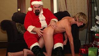 Santa spanks Tommy