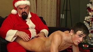 Santa spanks Jason