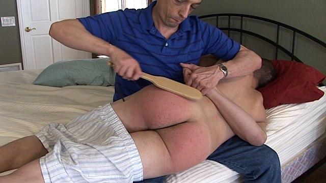 Jeff spanks Michael Lee
